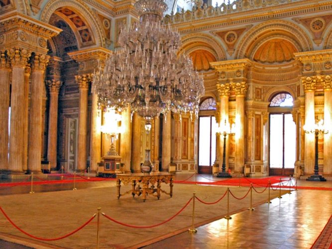 Dolmabahce Palace In Holiday