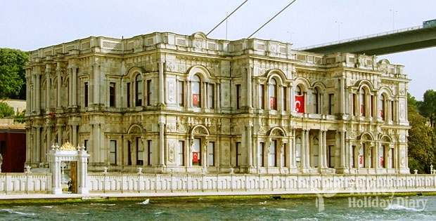 Dolmabahçe Palace In Holiday