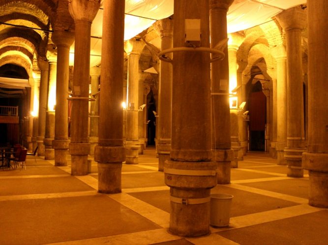 The Basilica Cistern In Holiday