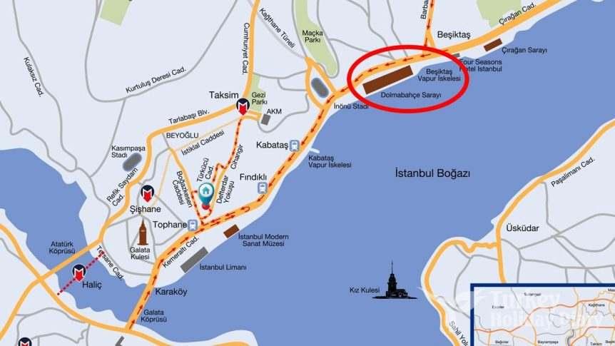 Where is Dolmabahçe Palace